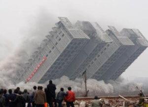 Implosão de edificação