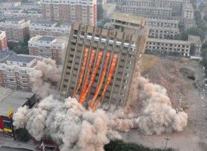 Demolição por implosão