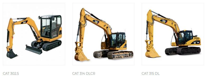 maquinas escavadeiras
