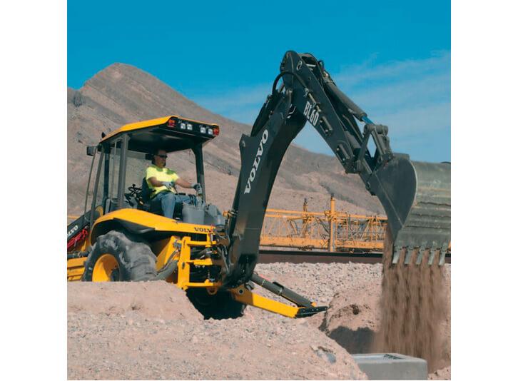 Uma maneira melhor de escavar Retroescavadeira Volvo BL60